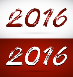 Calligraphy 2016 new year sign vector
