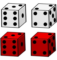 Cartoon dice vector
