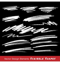 White scribble smears hand drawn in pencil vector