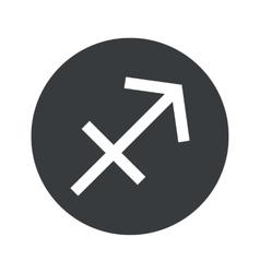 Monochrome round sagittarius icon vector