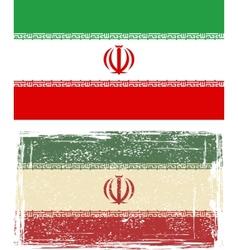 Iranian grunge flag vector