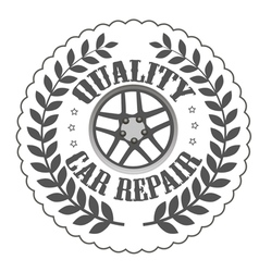 Quality car repair vector