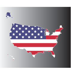 United states map on black to gray background vector