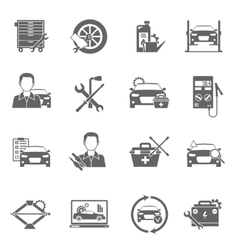 Auto mechanic icons set vector