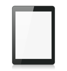 Black tablet computer or reader vector