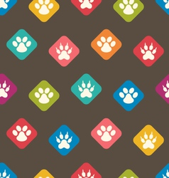 Seamless texture with colorful traces of cats dogs vector