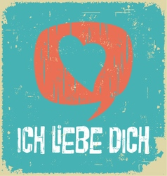 Love poster in german vector