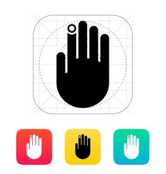 Hand finger id icon vector