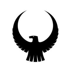 Graceful eagle with arched wings vector