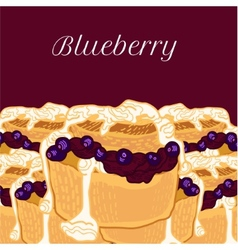 Blueberry muffin with jam vector