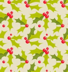 Holly pattern vector