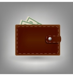 Wallet icon isolated on white background vector