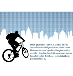 Bicyclist urban background vector