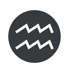 Monochrome round aquarius icon vector