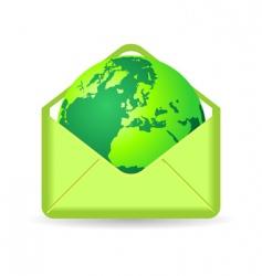 Globe in envelope vector