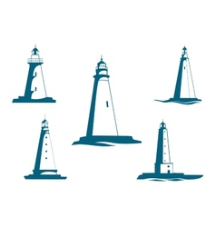 Lighthouse towers vector