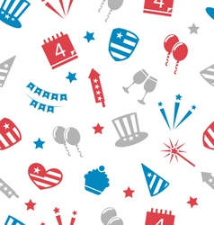 Seamless pattern for independence day of america vector