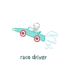 Driver rides flies in the car vector