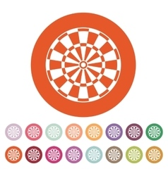 The darts icon target and game symbol flat vector