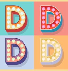 Letter d vector