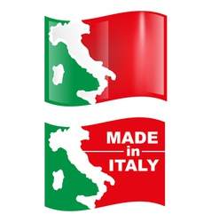 Made in italy flag vector