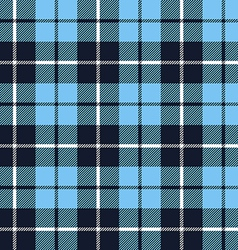 Blue tartan fabric texture in a square pattern vector