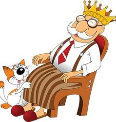 Cartoon grandfather vector