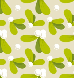 Mistletoe pattern vector