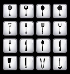 Cutlery menu design vector