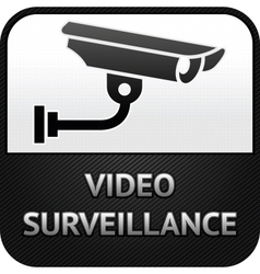 Cctv symbol video surveillance sign security camer vector