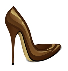 Brown high heel vector