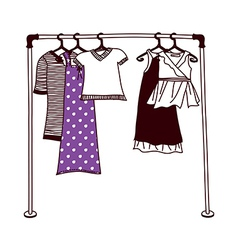 Clothes on a hanger vector