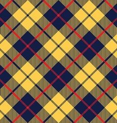 Blue orange tartan fabric texture diagonal little vector