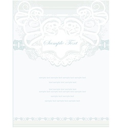 Abstract floral frame invitation card vector