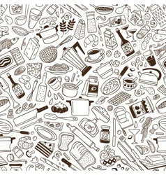 Cookery - seamless pattern vector