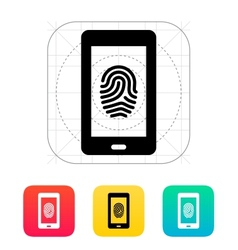 Phone fingerprint icon vector
