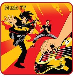 Music tv cartoon vector