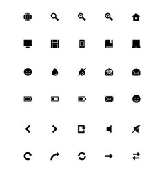 Mini icons 1 vector