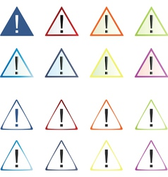 Attention icons set vector