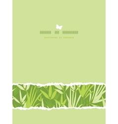 Bamboo branches horizontal card seamless pattern vector