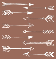 Tribal arrows doodle vector
