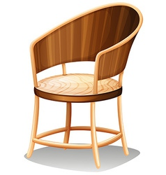 A smooth brown furniture vector