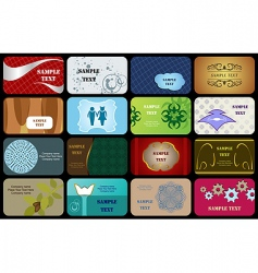 Set variety horizontal business cards vector