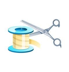 Icon band and scissors vector