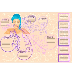 Beauty infographic vector