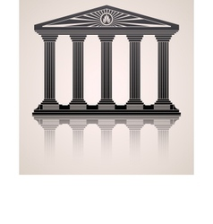 Antique roman temple stylized background vector