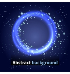 Abstract background sky with light particles vector
