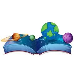 Solar system book vector