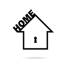 Home black and white vector