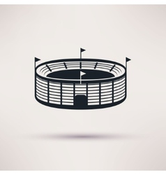 Sports stadium icons in a flat style vector
